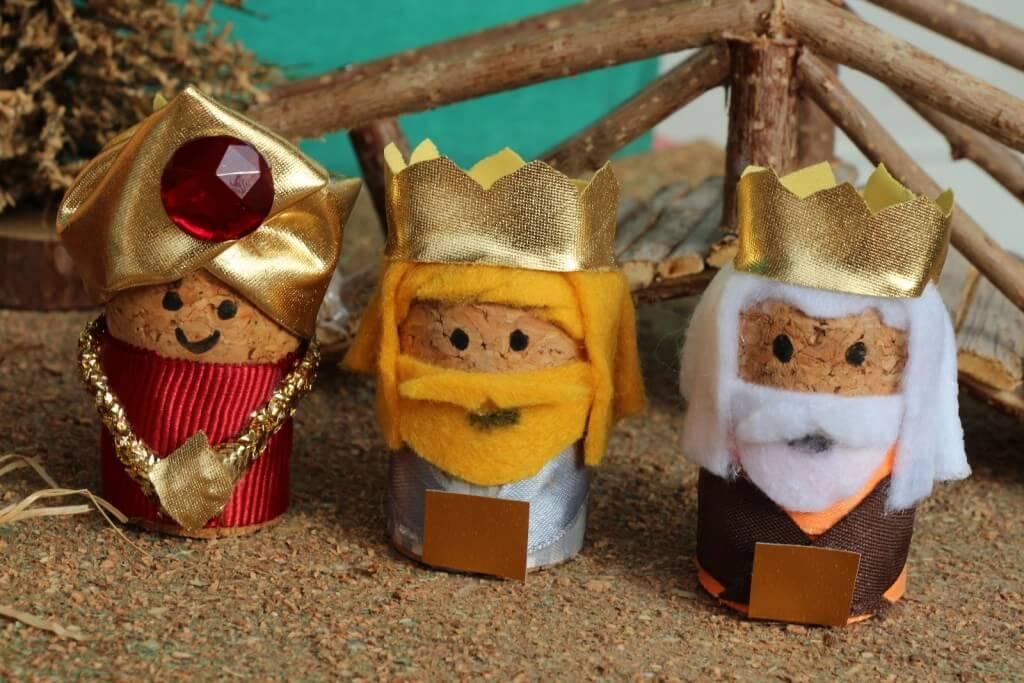 Reyes Magos con tapón de corcho